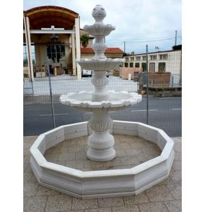 Eride Del Guerra Fontane Da Giardino Fontana Da Giardino A 3 Vasche In Marmo Bianco